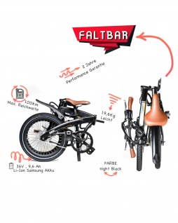 Marktneuheit 2021 Faltbike E-Bike Elektro Fahrrad bis zu 150 km Pedelec 28 Zoll 25km/h Elektrorad Citybike - Vorschau 5