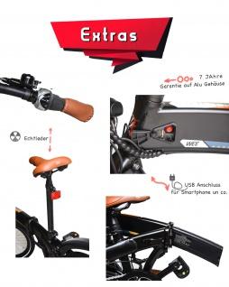 Marktneuheit 2021 Faltbike E-Bike Elektro Fahrrad bis zu 150 km Pedelec 28 Zoll 25km/h Elektrorad Citybike - Vorschau 4