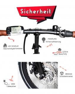 Marktneuheit 2021 Faltbike E-Bike Elektro Fahrrad bis zu 150 km Pedelec 28 Zoll 25km/h Elektrorad Citybike - Vorschau 3