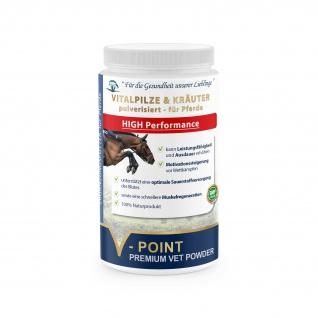 V-POINT HIGH Performance Vitalpilze & Kräuter für Pferde kann Ausdauer erhöhen - Vorschau 1