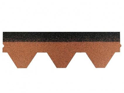 Dachschindeln Hexagonal Dreieck Form 1 Stk Braun Schindeln Dachpappe Bitumen