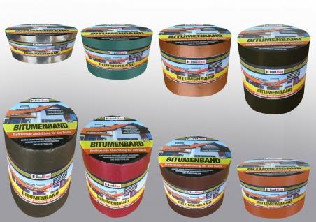 Bitumenband 10 m Aluminium Dachreparatur 8 Farben Reparaturband 75mm - 300mm