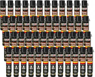 48 x 750 ml MONTAGESCHAUM MIT AUSSPRÜHROHR PU-SCHAUM BAUSCHAUM 1K