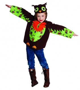 Rubies 12906 - Eule Kinder Kostüm * Owl Karneval * 104 116 128 * Kapuzenoberteil