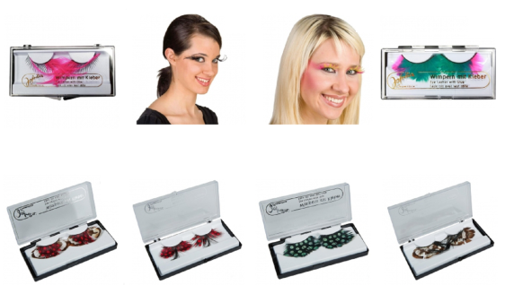 Jofrika Cosmetics 7188xx - STAR Lashes, inkl. Kleber, Federwimpern, Wimpern