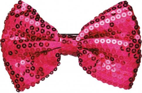 Paillettenfliege * in Pink * ca. 15 cm * Fliege * Glitzer * Mottoland 6331409