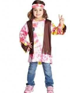 Rubies 12656 - Hippie Kind Unisex, Kinderkostüm 104 - 164, 60er 70er Batik Stil