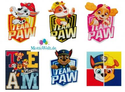 Paw Patrol Applikationen, Bügelbild, Patch, Aufnäher, Chase Skye Marshall Rocky