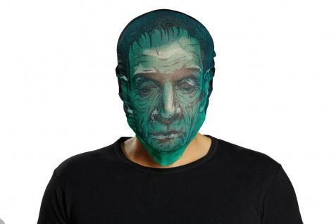 Mottoland 64090 - Maske Zombie grün, Horror Stoffmaske, Halloween - Karneval