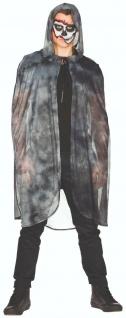 Mottoland 119198 - langer Umhang - Cape - dunkelgrau-meliert - Kostüm Zubehör