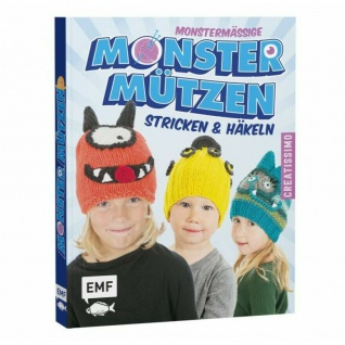 Buch Monstermässige Monster Mützen stricken und häkeln - mit 4 Grundmodellen