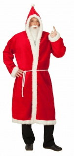 Rubies 14226 - Nikolausmantel Plüsch * Weihnachtsmann * STD * Weihnachten Bart
