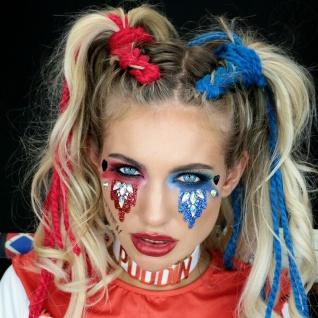 Rubies 3H1807 - Harley Quinn Face Jewels Set, Selbstklebend, DC Glitzersteine