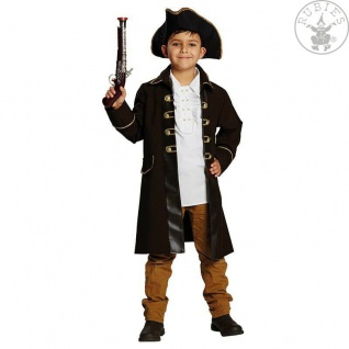 Rubies 12915 - Piratenmantel * Kinder * Karneval * 104 - 164 * Pirat * Jacke