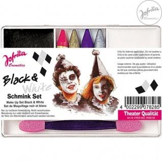 Jofrika Cosmetics * 707828 - Schminkset Black&White * Schminke Karneval *