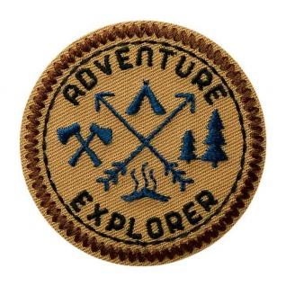 MQ 08038 Adventure Explorer Outdoor, Applikation Flicken Bügelbild Patch Ø5, 3 cm