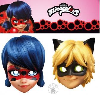 Rubies Card Mask * Miraculous Ladybug, Cat Noir * Maske aus Pappe *