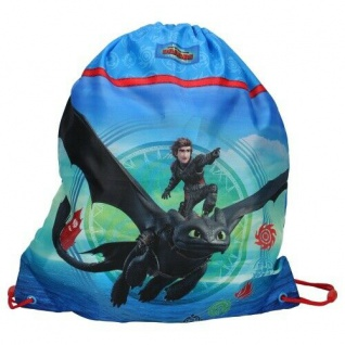 Turnbeutel von Dragon 3, Tasche, Gymtasche, Sportbeutel, Drachenzähmen Ohnezahn