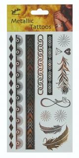 Jofrika 704080 - Metallic Tattoos Eternity, Sommer Sonne Festival, Gold Silber