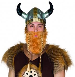 Mottoland 414910 - Wikingerhut, Wikinger Kostüm Zubehör, Nordischer Krieger Helm