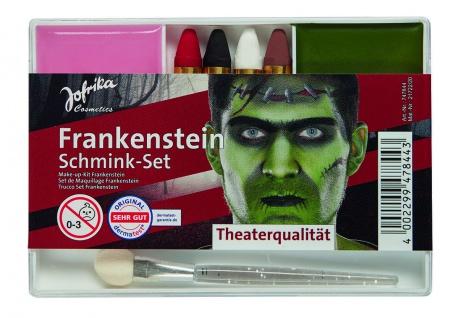 Jofrika Cosmetics 747844 - Schmink-Set Frankenstein, Applikator Schminke Stifte