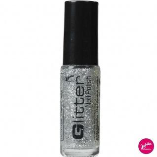 Jofrika 71535x - Glitter Nail Polish, Nagellack, Silber, Gold, Regenbogen