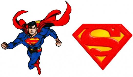 MQ Superman DC Applikationen, Bügelbilder Superheld, Patches, Aufnäher Aufbügler