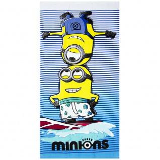 Minions Strandtuch, Badetuch 70x140 cm, Kevin & Stuart, Handtuch/Towel, Surfen