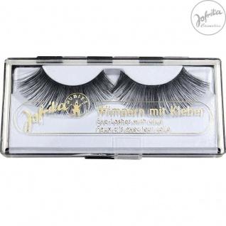 Jofrika Cosmetics 718603* Echthaar Wimpern Superlong * inkl. Kleber * Natur-Look