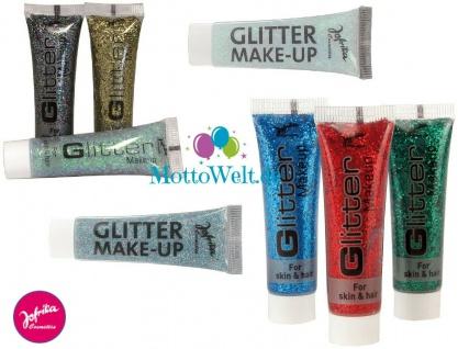 Jofrika Cosmetics 7111xx Glitter Make-up, gelb-irisierend blau rot silber bunt