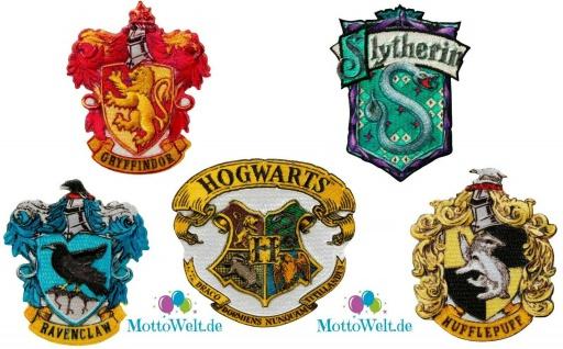 Harry Potter Hogwarts Applikation Bügelbild Patch Wappen Gryffindor Ravenclaw