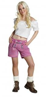 Rubies 13864 - Lederhose Pink * Gr. S, M, L * Oktoberfest * Damen ! 100% Leder !