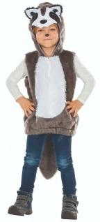 Rubies 12342 - Waschbär, kuscheliges Kinder Tier Kostüm Gr. 104 - 128