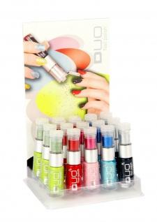 Jofrika Cosmetics 71580x DUO Nail Polish, Nagellack 5 Farben, mit Glitterpuder!