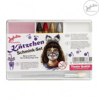 Jofrika Cosmetics * 707832 - Schminkset Kätzchen * Schminke Karneval * KATZE