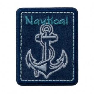 Mono Quick 08189 Nautical Anker Applikation, Bügelbild, Patch, Aufnäher, Flicken