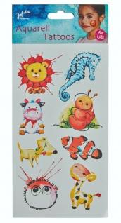 Jofrika 704070 - Aquarell Tattoos Kinder, Sommer Sonne Feste