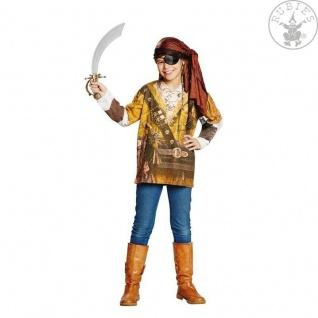 Rubies 12858 - Piraten Shirt, Kinder Pirat Gr. 104 - 152 , Karibik, Karneval