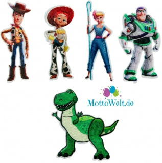 Toy Story Applikationen, Bügelbild, Patch, Aufnäher, Porzellinchen Rex Woody Buzz