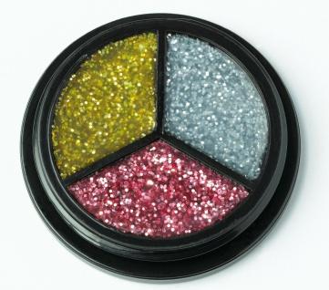 Jofrika Cosmetics 712150 - Trio Glitter silber-gold-pink - Glitzer Body make up