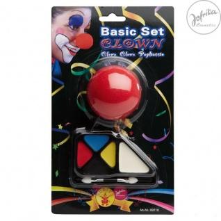 Jofrika Cosmetics * 709710 - Schminke * Basic Set Clown * Schminke Karneval