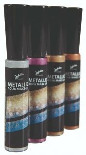 Jofrika Cosmetics 70036x Metallic Aqua make up, metallisch schimmernd, 4 Farben