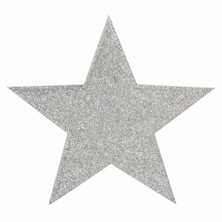 Mono Quick 22105 Stern, silber groß, Bügelbild, Patch 15, 3cm