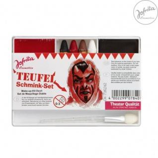 Jofrika Cosmetics * 707840 - Schminkset Teufel * Schminke Karneval * Teufelchen