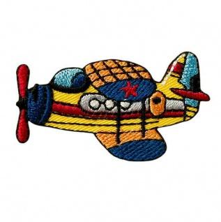 Mono Quick 04018 Flugzeug Applikation, Flicken, Bügelbild, Patch, Aufnäher