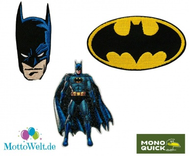 MQ Batman Applikationen - DC Comic Bügelbild, Fledermaus LOGO