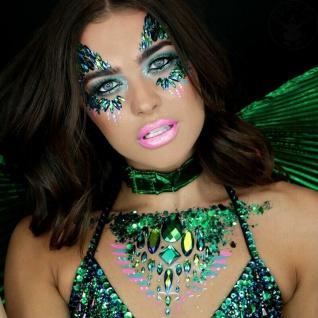 Rubies 3H1819 - Poison Ivy Face Jewels Set, Selbstklebend, DC Glitzersteine