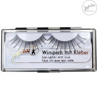 Jofrika Cosmetics 718103* Echthaar Wimpern Deluxe * inklusive Kleber *Natur-Look