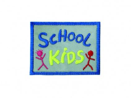 06196 School Kids Reflex Sticker Applikation, reflektierend, Flicken, Aufbügeln