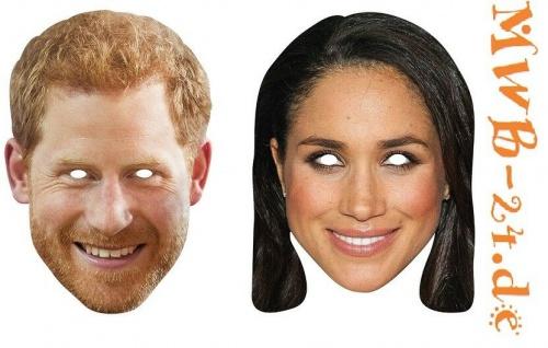 Rubies Card mask - Face Mask * Prince Harry, Meghan Markle * Maske aus Pappe